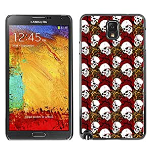 iKiki-Tech Estuche rígido para Samsung Galaxy Note 3 N9000 - White Skull