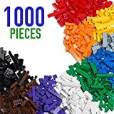 Barcaloo Building Bricks - 1,000 Piece Brick Building Kit - Compatible with all Major Brands
