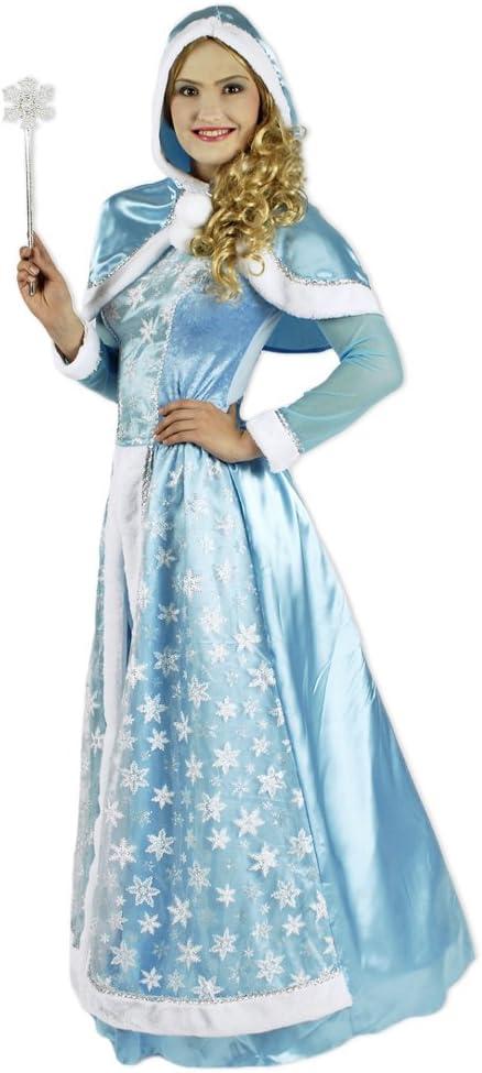 Das Kostümland Disfraz de Reina de Las Nieves para Mujer - Vestido ...
