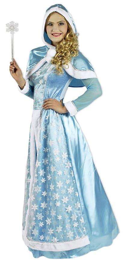 Das Kostümland Disfraz de Reina de Las Nieves para Mujer - Vestido de Disfraces Teatro,