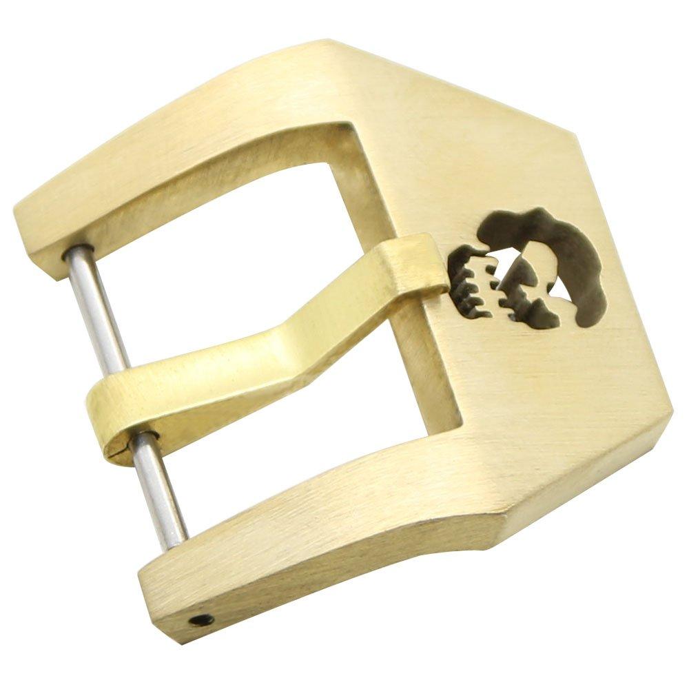 zlimsn腕時計バックル交換スカルBrushed腕時計レザーバンドスケルトンThickバックルfor Men 's XL XL Coppery Coppery XL B071KPYK9R