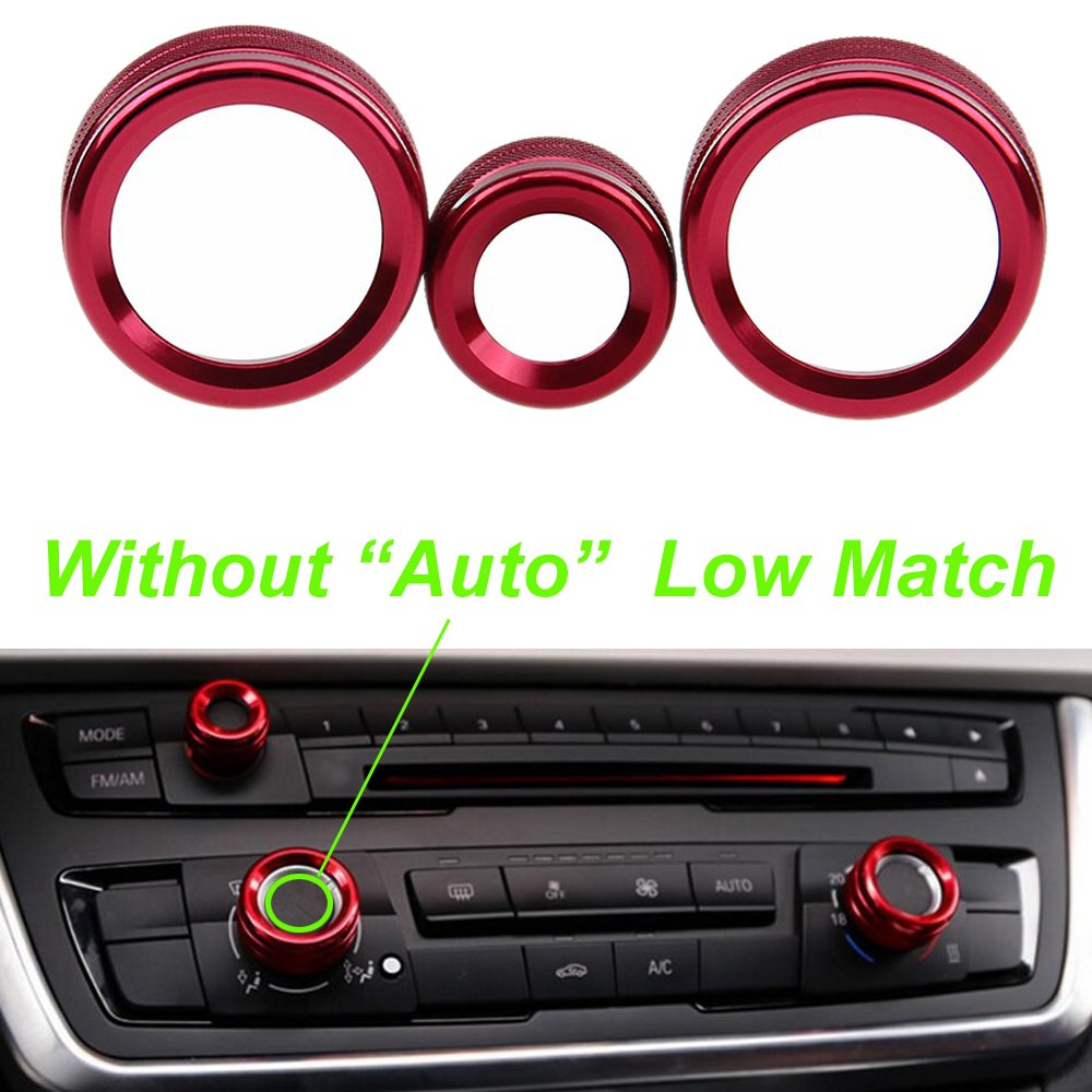 PolarLander 3Pcs//Lot Car Air Conditioning Rings Radio Volume Knob Ring Covers Decorative Circle Trim High Match Blue