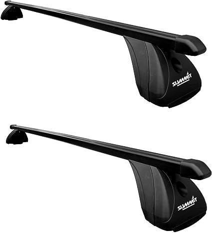 Set of 8 Black Steel Summit SUP-20342S Premium Multi Fit Roof Bars