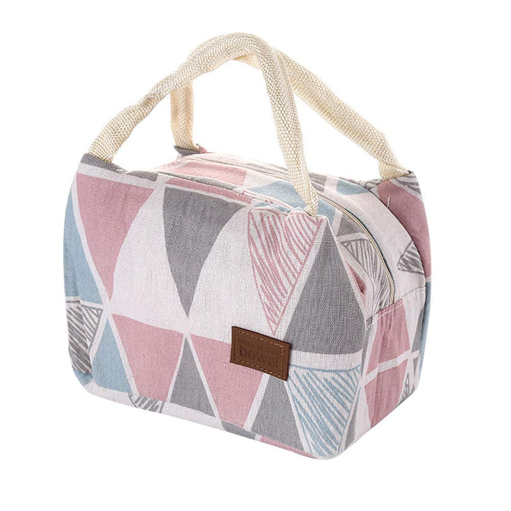 Hstore Thermal Insulated Lunch Box Tote Cooler Bag Bento Pouch Lunch Container Lunch Bag Picnic Bag Vest Bag