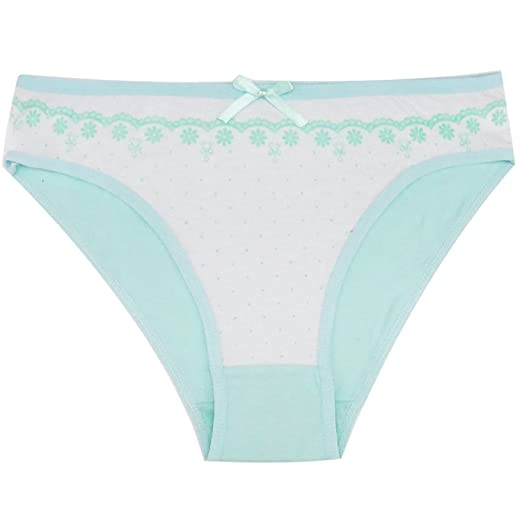 db6a84027d2 Jeff Tribble Women s Cotton Panties Dot Print Girl Briefs Flower Underwear  Bikini Underwear Sexy Briefs 1