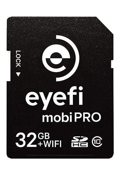 Eye-Fi MobiPro - Tarjeta de Memoria SecureDigital de 32 GB (Clase 10, SDHC), Negro