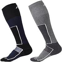 2pares de alto rendimiento hombres calcetines de esquí