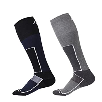 2 pares de calcetines térmicos de esquí Wicking Coolmax, para hombre, de secado rápido