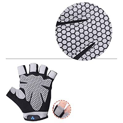 Jinjin Men Women Yoga Fitness Gloves Weight-Lifting Workout Crossfit Gloves Rowing, Power-Lifting, Pull Up Callus-Guard Gym Barehand Grip Gloves for Spring Short Bike Ride: Baby [5Bkhe0503298]