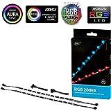 DEEPCOOL RGB 200EX RGB LED Strip, Synchronized Control via 12V RGB Header on Motherboard, SYNC with Other 12V RGB Devices