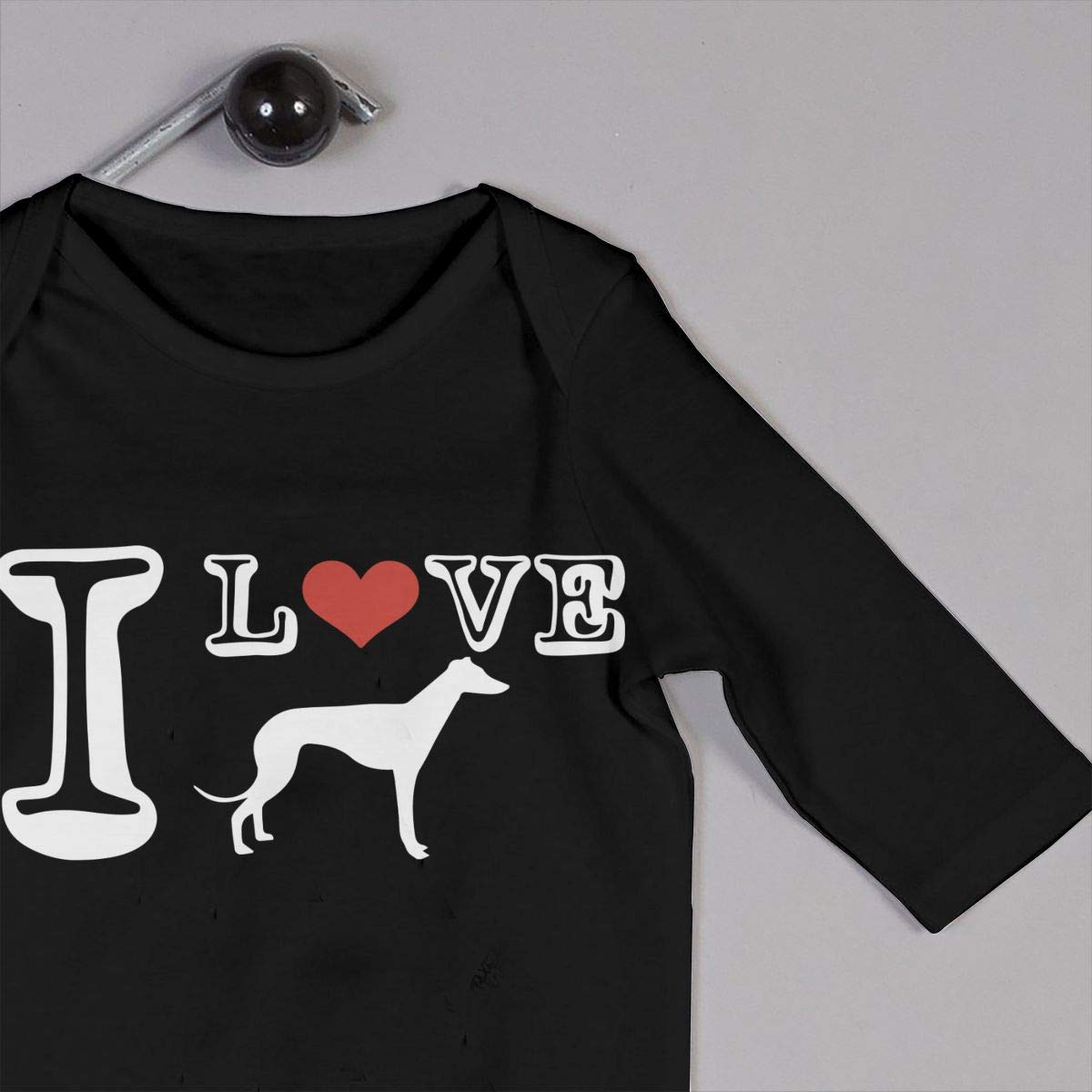 Infant Baby Girls Cotton Long Sleeve I Love Greyhound Dog-1 Climb Romper One-Piece Romper Clothes