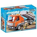 Playmobil Building Kit Flatbed Workman's Truck