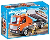 Playmobil Building Kit Flatbed Workman's Truck