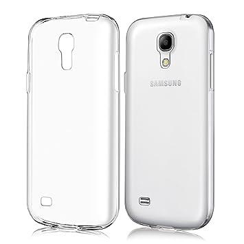 kwmobile Funda compatible con Samsung Galaxy S4 Mini - Carcasa de [TPU] para móvil - Cover [trasero] en [transparente]