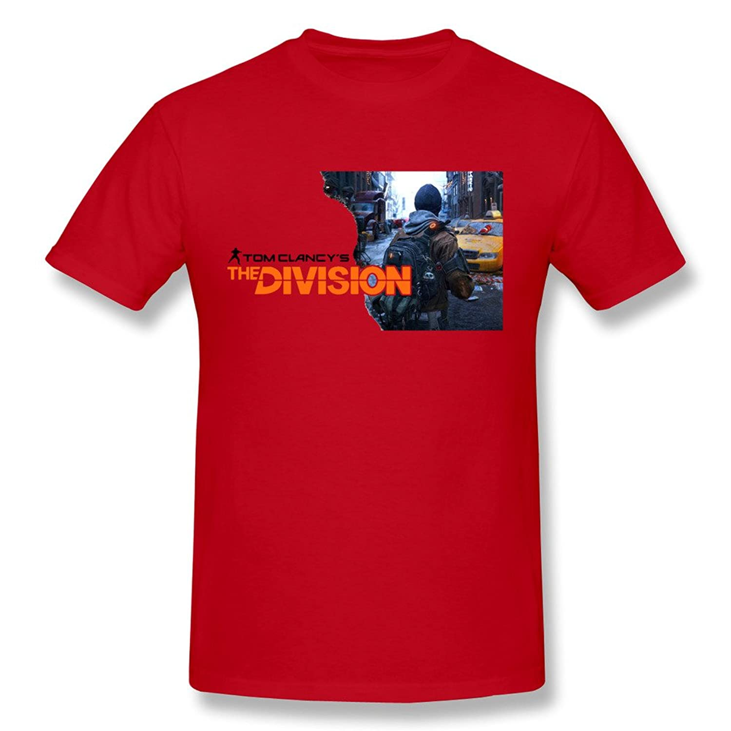 Handson Men's Division Tom Clancy's Agent Logo Funny Game Screw-Neck Tees DeepHeather