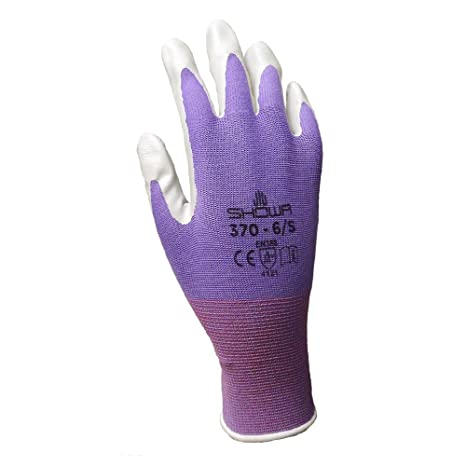 6 Pack Showa Atlas NT370 Atlas Nitrile Garden Gloves   Large (Assorted  Colors)   Work Gloves   Amazon.com