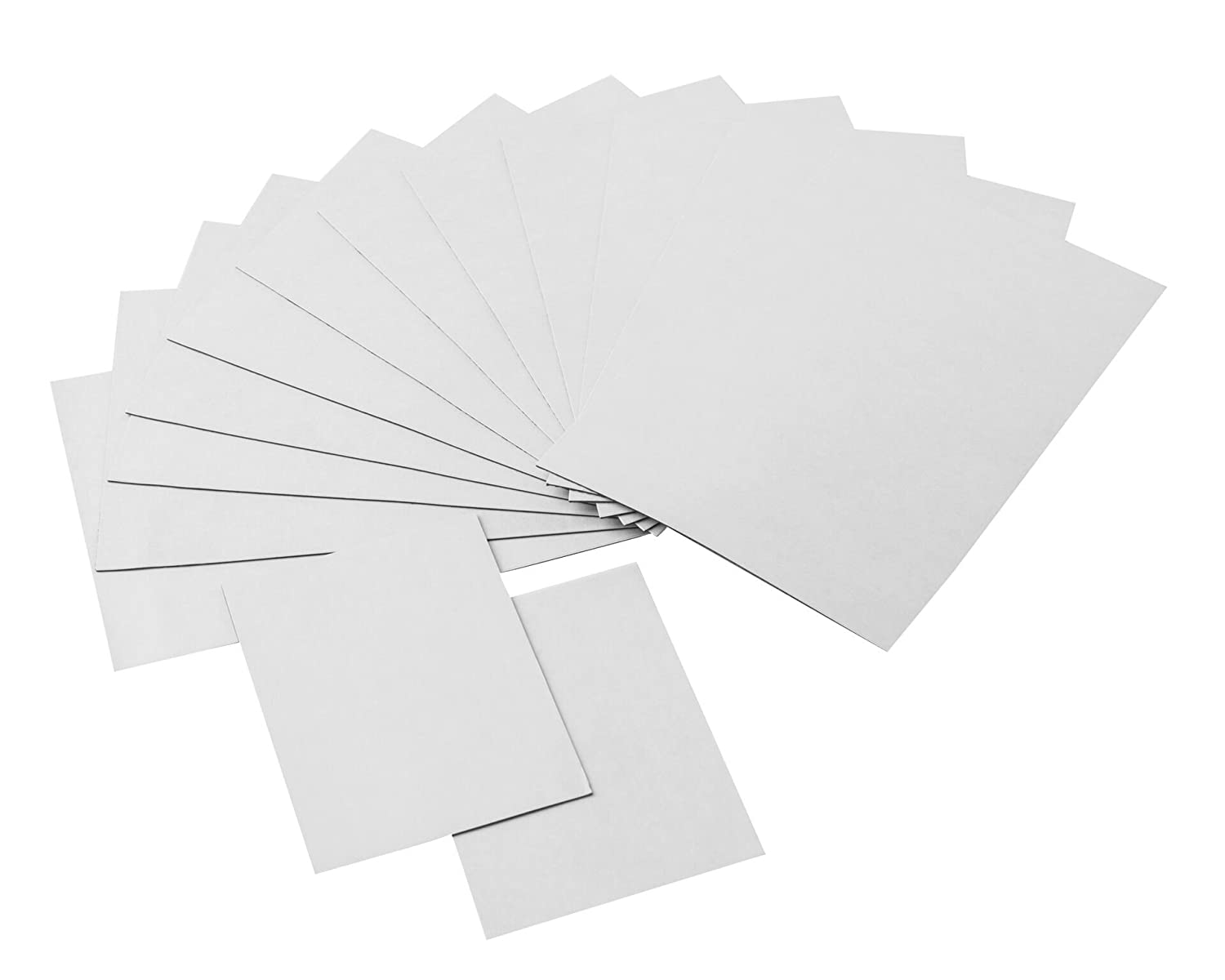 totalElement Strong Flexible Self-Adhesive Magnetic Sheets, 4 x 6 Inch and 2 x 3 Inch, Peel & Stick Refrigerator Magnets for Photos and Art (14 Pieces)