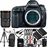 Canon EOS 5D Mark IV DSLR Camera w/EF 24-70mm f/2.8L II USM Lens - International Version (No Warranty) 27PC Accessory Bundle. Includes 64GB Memory Card, 2 Replacement LP-E6 Batteries, More