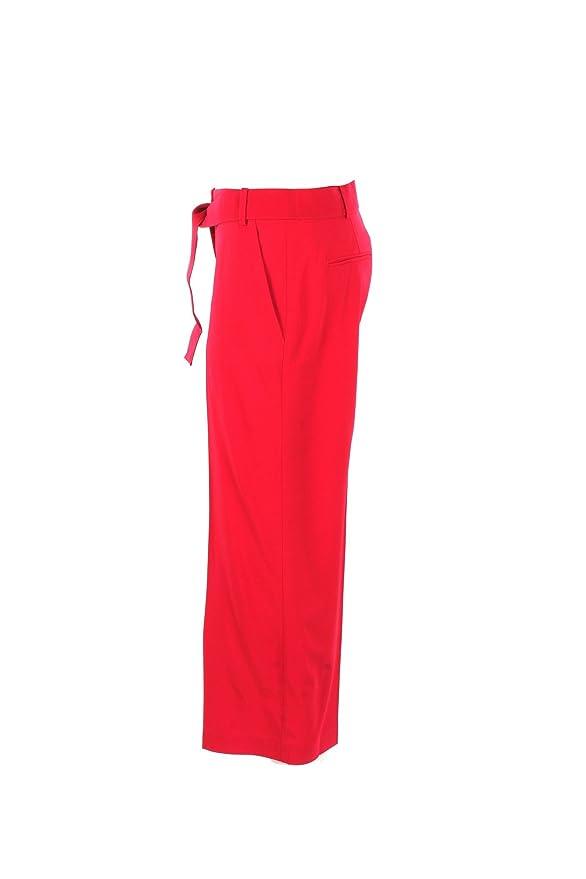 Pinko Pantalone Donna 44 Rosso Ciro 2 Primavera Estate 2018: Amazon.co.uk:  Clothing