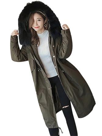 EASONDDD レディース モッズコート アウター ダウンコート ジャケット ミリタリーコート ダウンジャケット 中綿コート フード付き  フェイクファー 中綿 防寒 コート ロング ゆったり カジュアル エレガント 大きいサイズ
