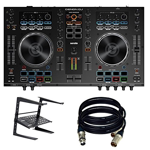 Denon DJ MC4000 2-Ch 2-Deck Serato DJ Controller - New. W/ laptop stand and 2 XLR Cables.