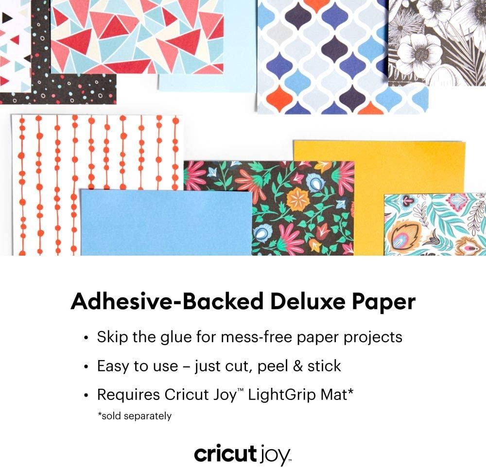 Moroccan 10 ct DIY Craft Paper for Scrapbooking and other Art Projects Cricut Joy Adhesive-Backed Deluxe Paper