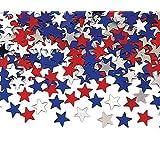 Creative Converting Metallic Star Confetti, Red, White and Blue