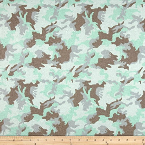 Aqua 42' Flannel (Printed Flannel Urban Camoflage Aqua Fabric By The Yard)
