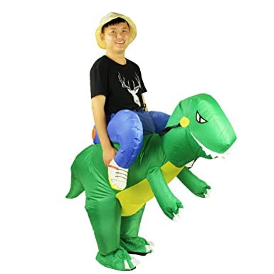 Adult Size Inflatable Costume Dinosaur Ride on Toy Carry on Animal (Dinosaur)  Yellow 4bc06feaab