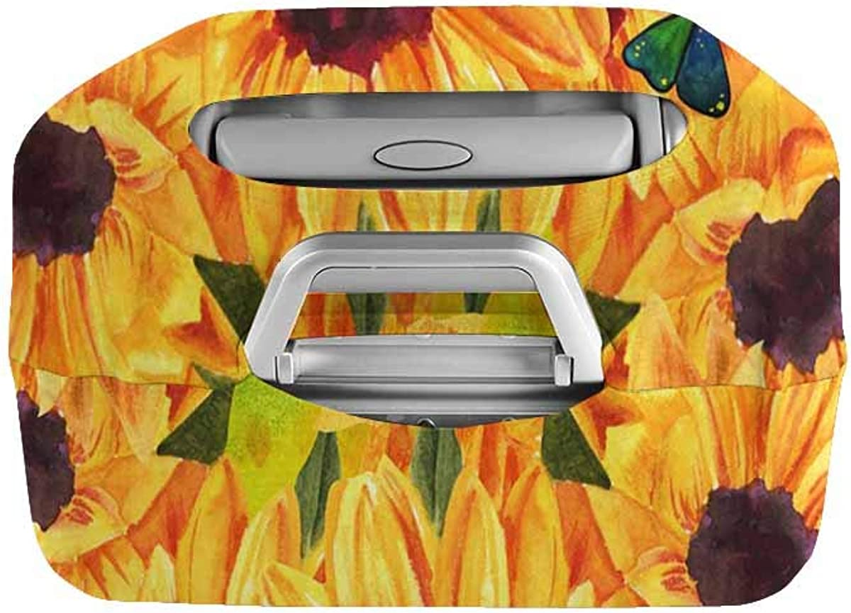 INTERESTPRINT Travel Luggage Protector Suitcase Covers Fit 18-28 Inch Luggage Sunflower