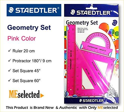 STAEDTLER GEOMETRY SETS ruler math education material (PINK)