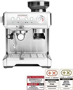 Gastroback 42619 Design Espresso Advanced Barista - Cafetera de espresso programable con mecanismo cónico y bomba de espresso italenica profesional (15 bares), color acero inoxidable: Amazon.es: Hogar