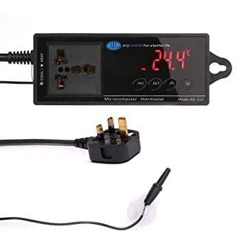 KOBWA - Termostato de Temperatura Digital, regulador de ...