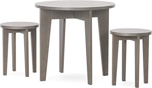 Forever Eclectic Geo Kids Round Wood Table and Chair Set