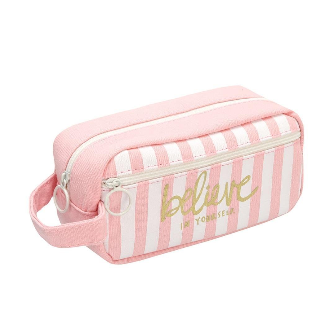 Namgiy Pen bag Pencil Case makeup Tool bag Storage Pouch Purse Cosmetic bag cancelleria per ragazze donne scuola ufficio tela doppia cerniera