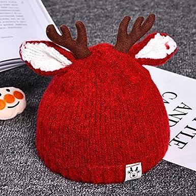 Aisa Unisex Children Knitting Winter Beanie Hat Insect Eye Tentacle Christmas Cap