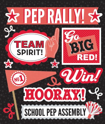 (K&Company Red Pep Rally Sticker Medley)