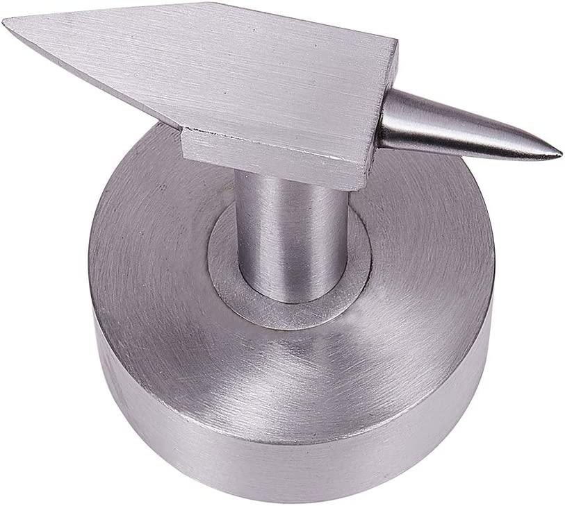 PH PandaHall Steel Professional Jewelry Double Horn Anvil Jewelers Metalworking Tool with Wide Base for Jewelry Making