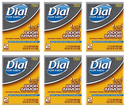 Lot of 12 Bars (One Dozen) Dial for Men Odor Armour Bar Soap 3.2 oz/bar (The Best Soap For Men)