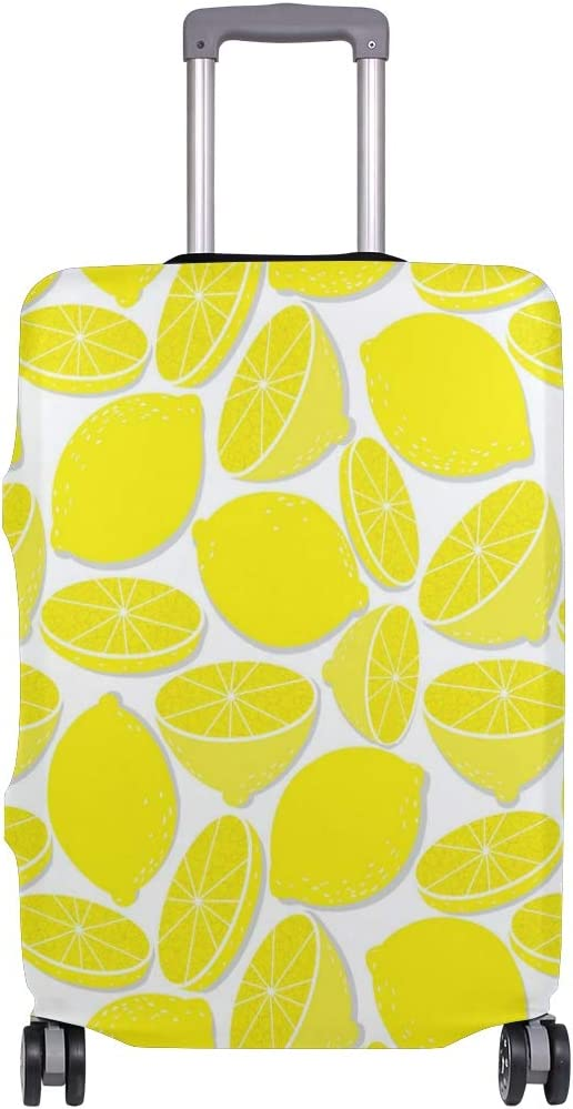 Delicious Golden Lemon Slice Travel Luggage Protector Case Suitcase Protector For Man/&Woman Fits 18-32 Inch Luggage
