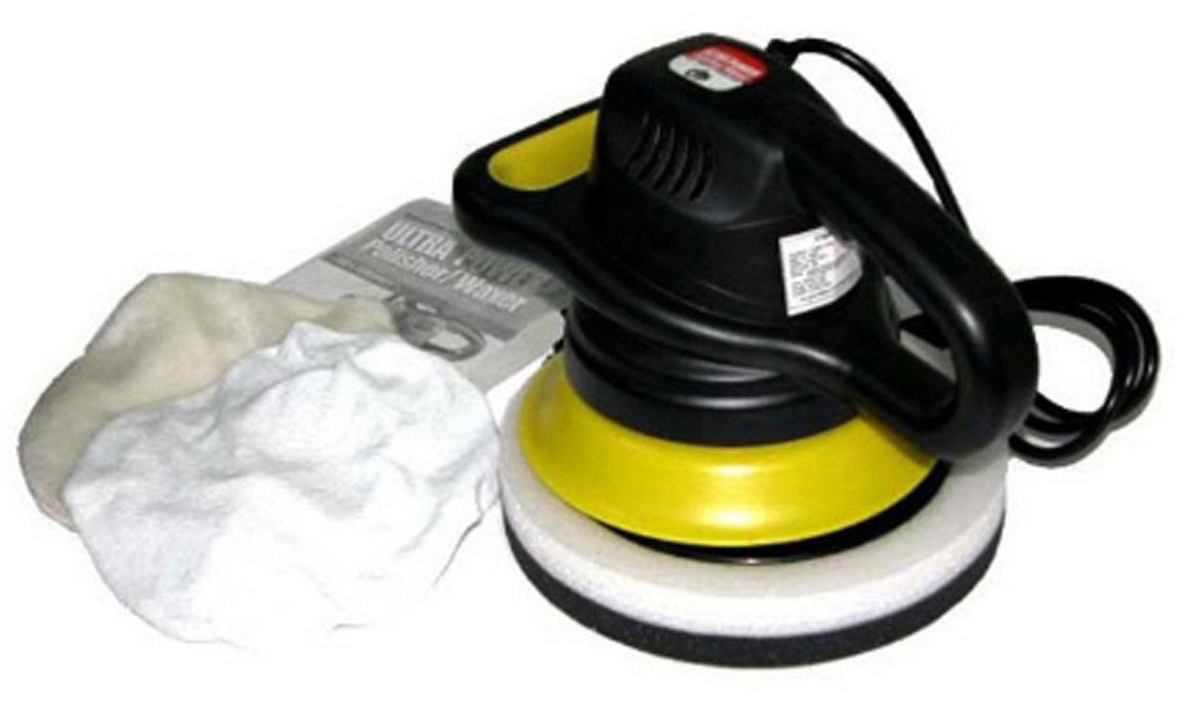 Car Tech 9 inches Automotive Waxer/Polisher 12Volt, 3200RPM, 60Watt Including 2 Pad for Glossy, Waxing