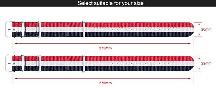 Amazon.com: SINOBI Casual Women Nato Nylon Stripe Watchband, Unisex Sport Buckles Canvas Strap Elastic Men Wristbands: Watches