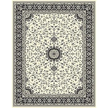 Amazon Com Traditional Area Rugs Ivory 4x6 Rugs For