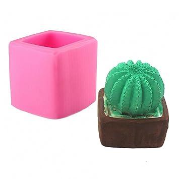 Molde de silicona MoldFun Cactus para fondant, decoración de pasteles, jabón hecho a mano