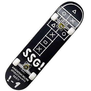 KD Skate Principiante Cuatro Ruedas Skate Cepillo Calle Carretera Niños Adultos Dobles Skate,2: Amazon.es: Deportes y aire libre