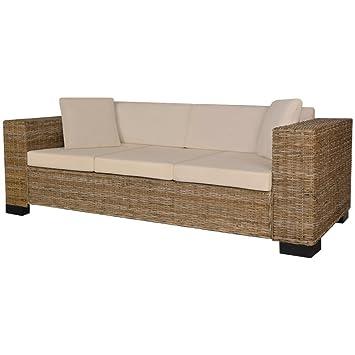 Vidaxl Sofa Set 8 Tlg Rattan 3 Sitzer Couch Loungesofa Wohnmöbel
