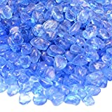 Onlyfire Reflective Fire Glass Beads for Natural or Propane Fire Pit, Fireplace, or Gas Log Sets, 10-Pound, 1/2-Inch, sky Blue