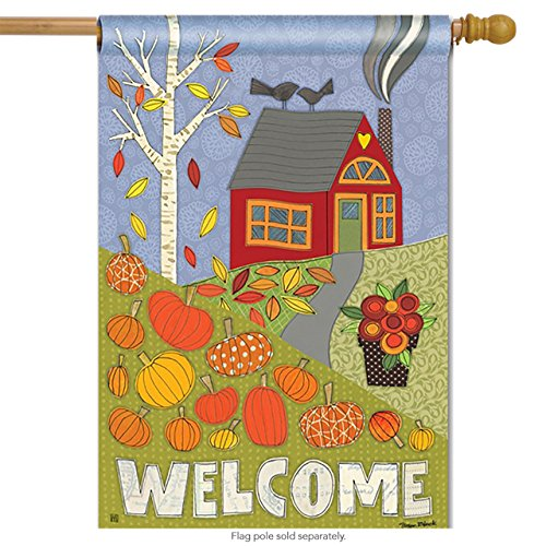 Pumpkin Patch House Flag Welcome Fall Autumn Banner 28