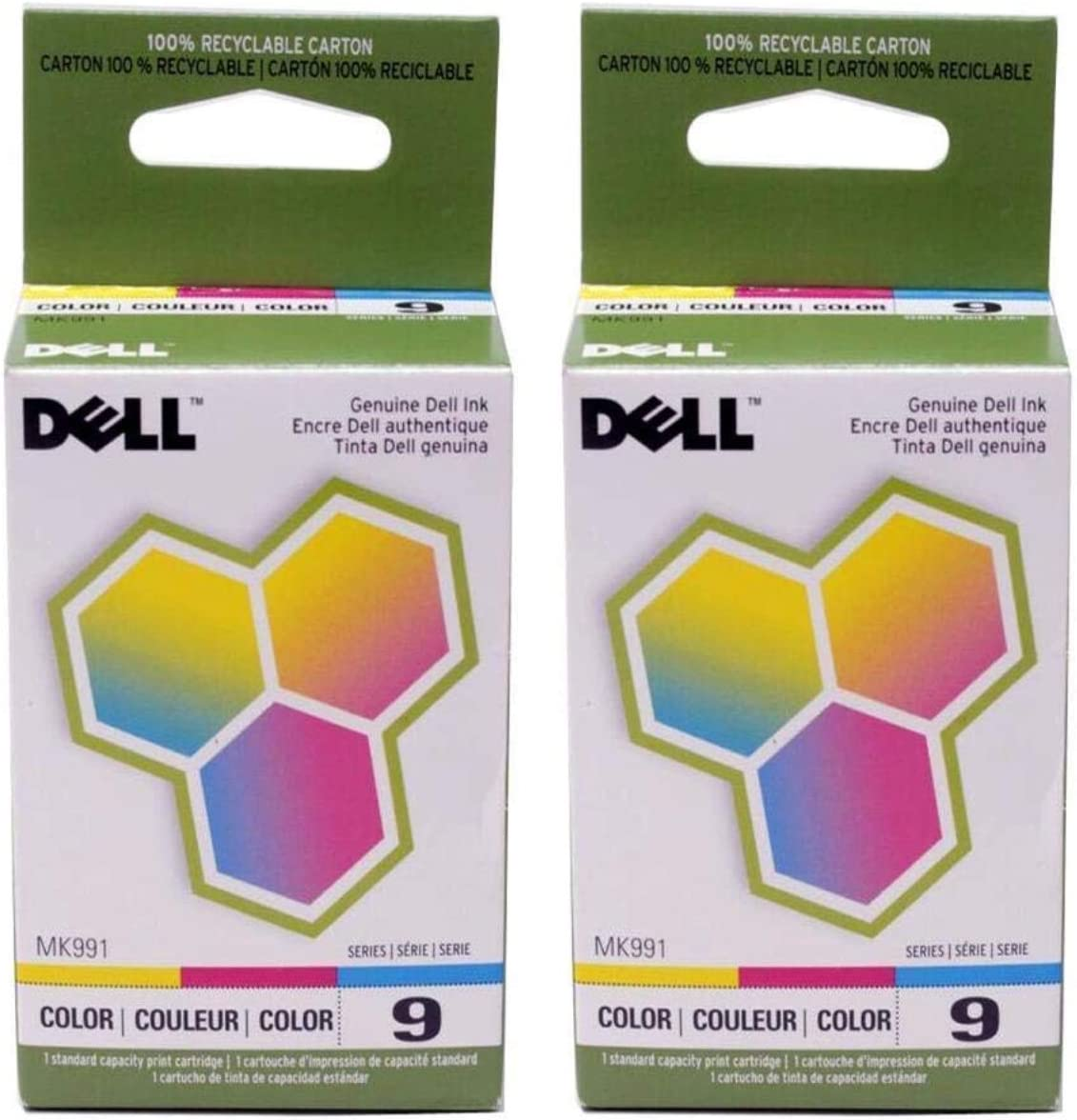 Dell MK991 Series 9 926 V305 Color Ink Cartridge (2-Pack) in Retail Packaging
