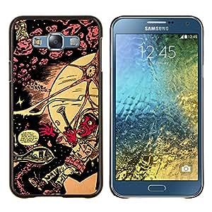 Qstar Arte & diseño plástico duro Fundas Cover Cubre Hard Case Cover para Samsung Galaxy E7 E700 (Lsd psicodélico patrón)